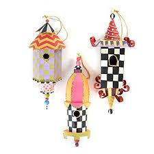mackenzie childs birdhouse ornaments set of 3 oodles of