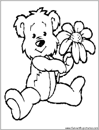 baby teddy bear coloring pages