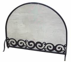 Fireplace Metal Screen by Scroll Flat Metal Fireplace Screen With Arched Top Rustic Fire