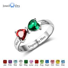 sterling silver personalized jewelry promise rings personalized jewelry engrave name custom birthstone