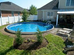 Backyard Pool Ideas by 51 Best Semi Inground Pools Images On Pinterest Backyard Ideas