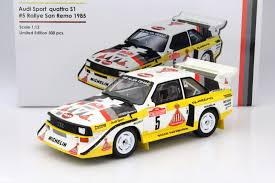 audi rally ottomobile audi sport quattro s1 winner rally san remo 1 12 model