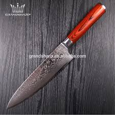 8 inch vg 10 damascus steel chef knife with red pakka handle