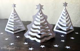 hattifant u0027s 3d paper christmas trees hattifant in 3d christmas