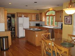 hardwood floor kitchen oak cabinets pictures personalised home design