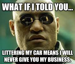 Over It Meme - every goddamn morning my car has flyers and cards all over it