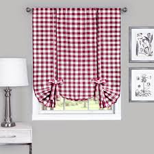 Tie Up Window Curtains Buffalo Check Tie Up Shade 42