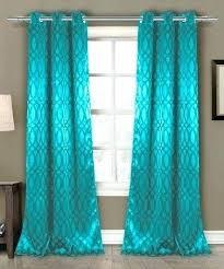 Turquoise Blackout Curtains Aqua Blackout Curtains Eyelet Turquoise Grommet Home Decorating