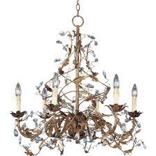 maxim lighting elegante 6 light etruscan gold chandelier 2851eg