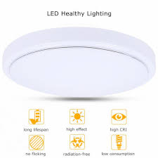 No Ceiling Light In Living Room by 18w Round Led Ceiling Panel Light 1600 Lumens 7000k Bedroom Living