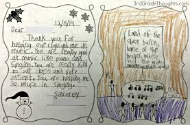 friendly letter writing with rack 3rd grade thoughts