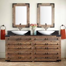 Vessel Sink Vanities Signature Hardware - Bathroom vanities double vessel sink