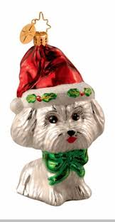christopher radko merry maltese ornament retired and out of stock