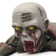 crawling zombie scary horror bloody haunted animated prop