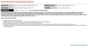 mechanical design engineer cover letter u0026 resume
