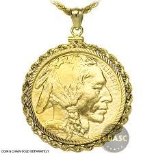 necklace pendant coin images Buy solid 14k gold coin bezel pendant 50 1 oz gold buffalo jpg