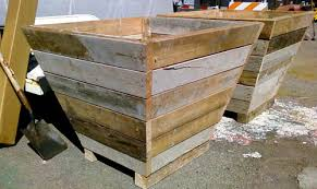 recycled wood planter box wood planters recycled wood and