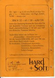 ROM RAM 1 0 cornrnodore Serie 610 und 710 Hardware
