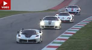 all the ferraris all of ferraris track only xx models on the track which is best