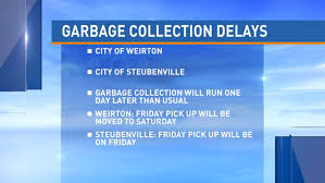 garbage collection delays for thanksgiving wtov