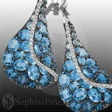 blue topaz earrings blue topaz earrings sophias jewelry