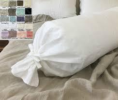 linen bolster pillow case multiple color choices crushed linen