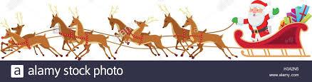 santa sleigh and reindeer santa sleigh and reindeer stock vector illustration vector