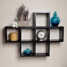 amazon com danya b cubby white laminate display wall shelf home