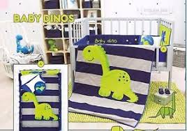 Nursery Crib Bedding Sets Baby Boy Blue And Gray 6 Dinosaur Nursery Crib Bedding Set