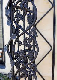 grape vines on trellis wrought iron hand railings pinterest