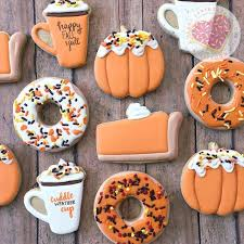 best 25 fall decorated cookies ideas on thanksgiving