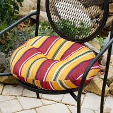 Lawn Chair Cushion Covers Round Seat Cushions With Ties Round Designs