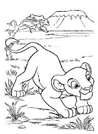 disney cartoon coloring pages kids lion king cartoon