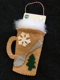 diy felt coffee mug ornament kit felt gift card holder christmas