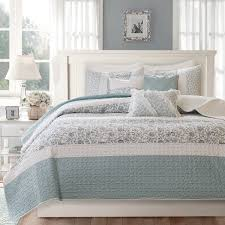 Quilted Cotton Coverlet Madison Park Vanessa Blue Cotton Quilted 6 Piece Coverlet Set On