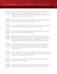 november monthly checklist farm bureau insurance