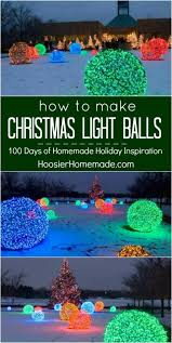 outdoor christmas light balls how to make christmas light balls holiday inspiration christmas