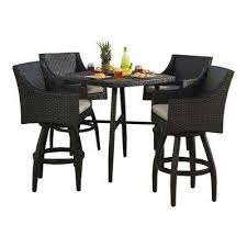 Bar Height Patio Table And Chairs Bar Height Dining Sets Outdoor Bar Furniture The Home Depot