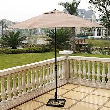braddock heights brown patio umbrella 9 u0027 walmart com