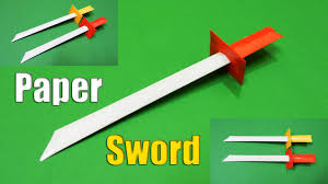 how to make a paper sword easy tutorial youtube