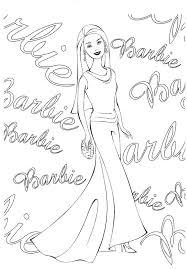 beautifull barbie doll coloring print free download