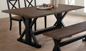 Rustic Oak Dining Tables Simmons Upholstery Black Rustic Oak Dining Table