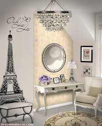 bedroom design cute paris themed with bedding in