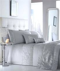 Catherine Lansfield Duvet Covers Belmont Silver Quilt Cover Set Sara Silver Quilt Cover Set Adriana