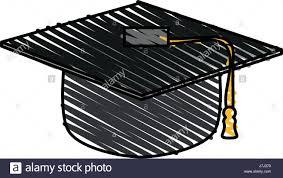 graduation toga graduation toga hat stock vector illustration vector image