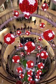 led red balls shopping mall christmas decorations yandecor