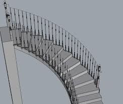 Curved Handrail And Now For The Final Hard Part Curved Stair Case Handrail
