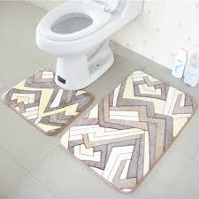 Bathroom Memory Foam Rugs Funique Set Coral Fleece Bathroom Memory Foam Rug Doormat