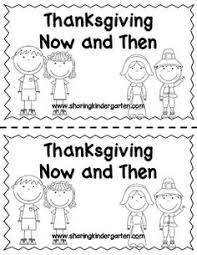 past and present reader and activity kindergarten thanksgiving