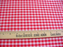 Plaid Home Decor Fabric Vintage Gingham Fabric Woven Red U0026 White Medium Check Plaid